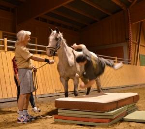 Fallübung vom Pferd