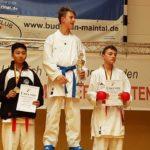 Hessische Meisterschaft 2019 Luis Dieser oben auf dem Treppchen